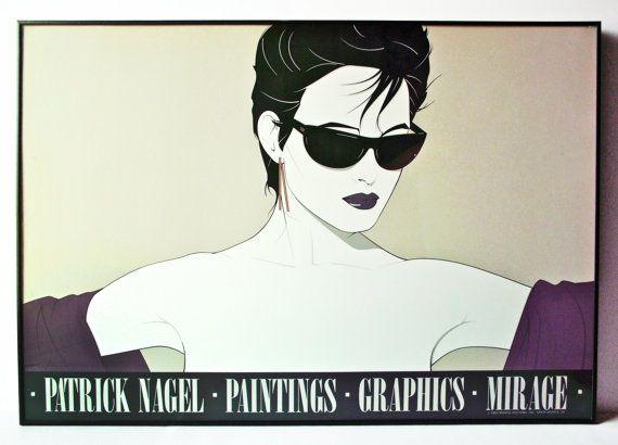 Vintage Iconic 80 S Patrick Nagel Mirage Sunglasses Framed