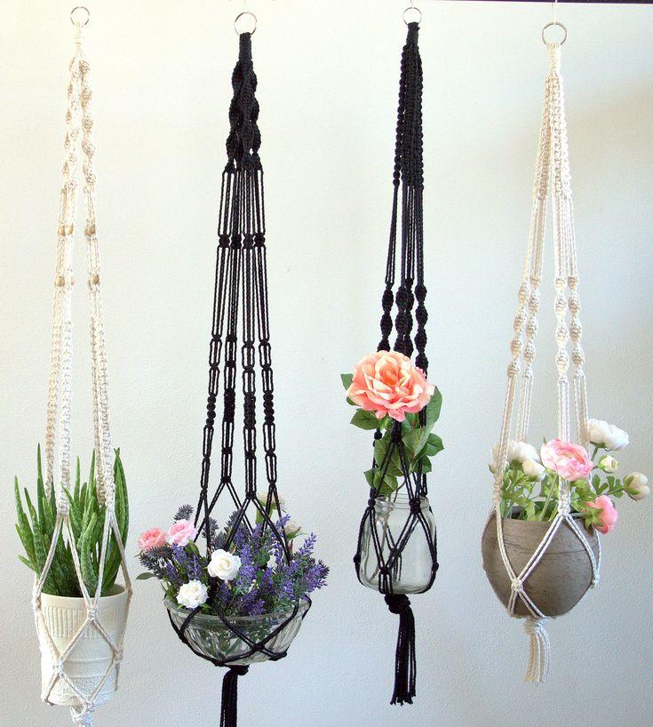 Excited to share the latest addition to my #etsy shop: Macrame Plant Hanger https://etsy.me/2HvHKMG #housewares #homedecor #white #black #bedroom #boho #scandi #bedroomdecor #makeyourown