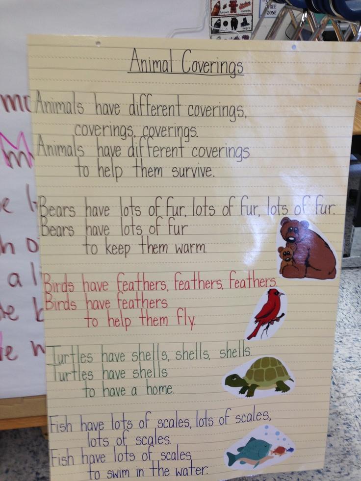 animal coverings poem science 1st grade pinterest animals and poem. Black Bedroom Furniture Sets. Home Design Ideas