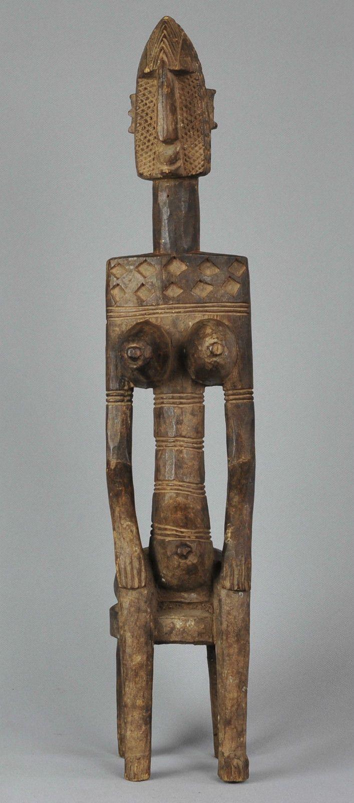 Statue féminine Bambara Mali Bamana female wood figure Art Africain premiers | eBay