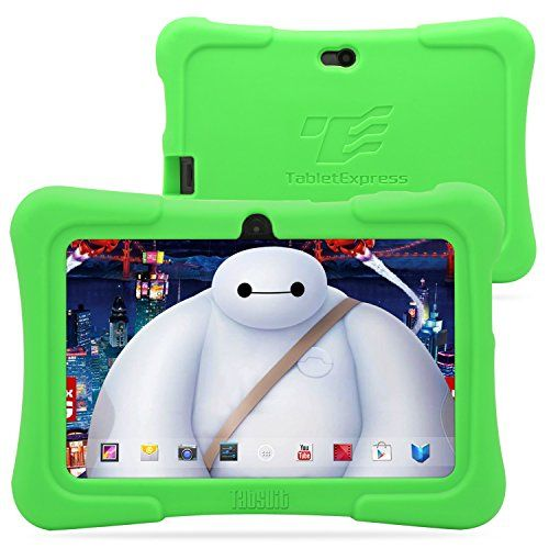 "Dragon Touch 7"" Quad Core Android Kids Tablet, with Wifi and Camera and Games, HD Kids Edition w/ Zoodles Pre-Installed (2015 New Model, Y88X with Green Silicone Case)"