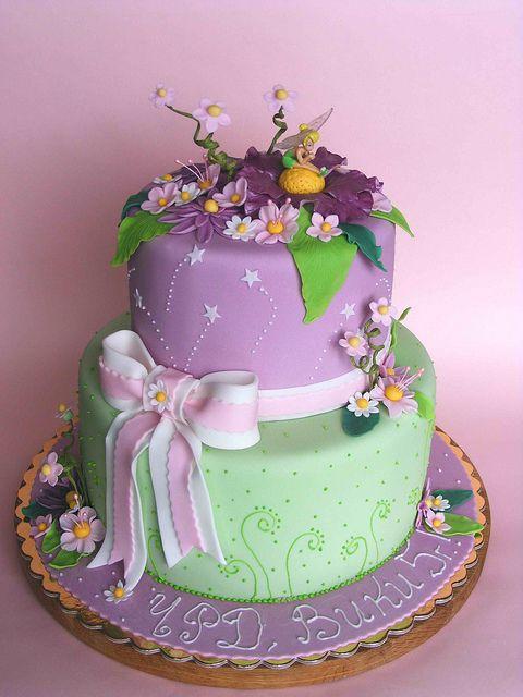 Beautiful Birthday Cakes For Girls   Tinkerbell cake for Viki   Flickr - Photo Sharing!