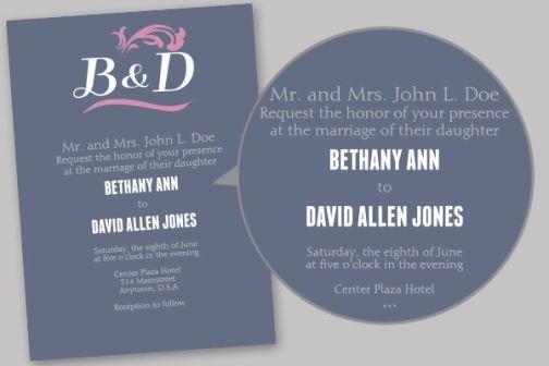 Unique Wedding Invitation Samples: 35 Best Wedding Invitation Wording` Images On Pinterest