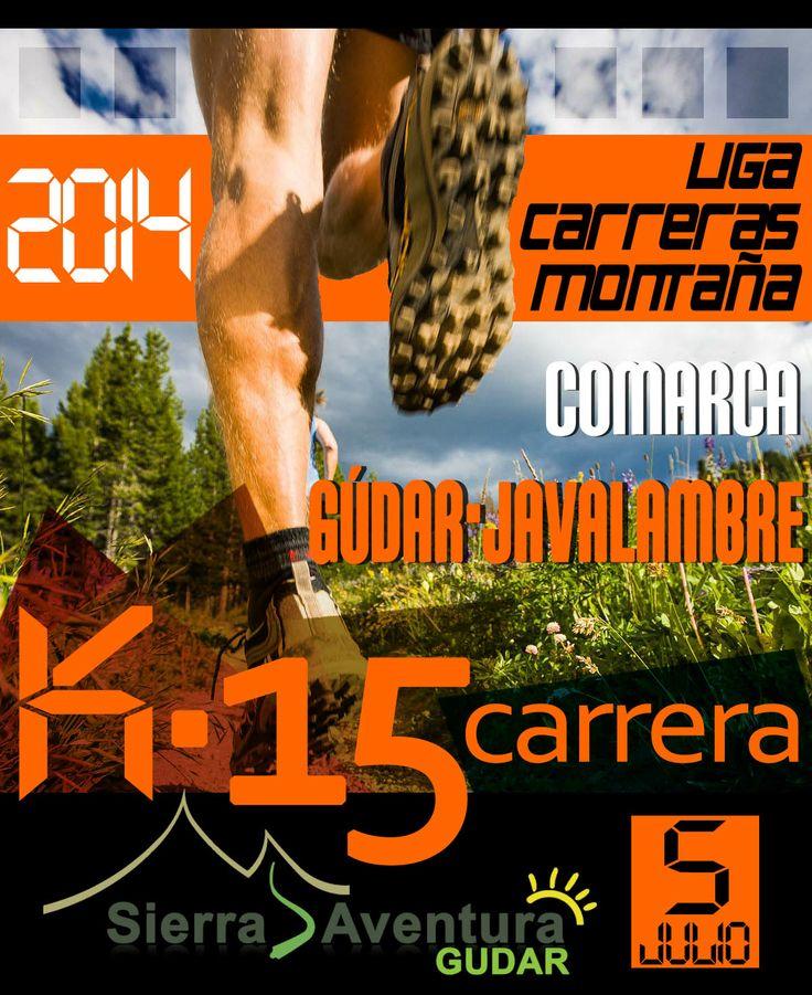 Diseño Cartelería: #K15 Carreras de Montaña Comarca #Gúdar Javalambre 2014 contacto@elenadomenech.es www.gudarsierraaventura.com