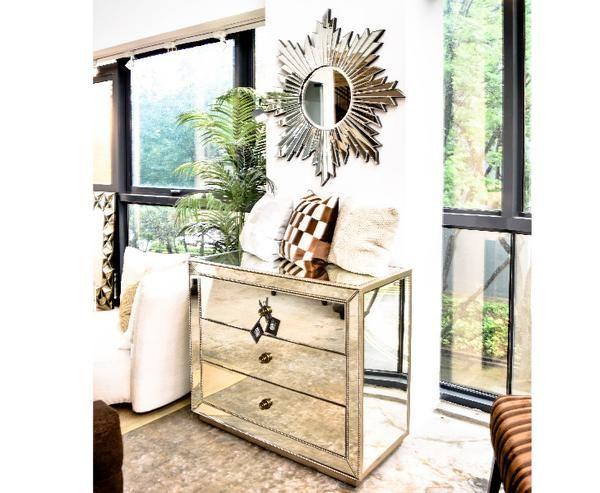 Hermes Mirrored 3 Drawer Dresser Sideboard Decoración Del Hogar Decoración De Unas Hogar