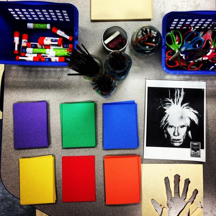 andy warhol pop art elementary art lesson - first grade .  NVartworks