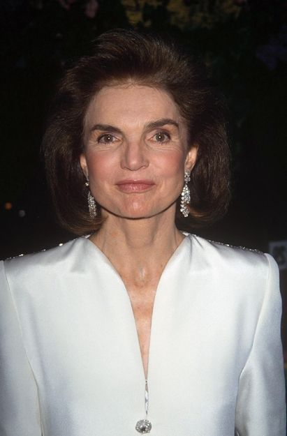 "Jackie Kennedy photographed in the summer of 1993. Like most people she hated aging. A friend tried to comfort her by saying old trees are more beautiful than new ones. Jackie responded ""yes, but it's still very hard to take."""
