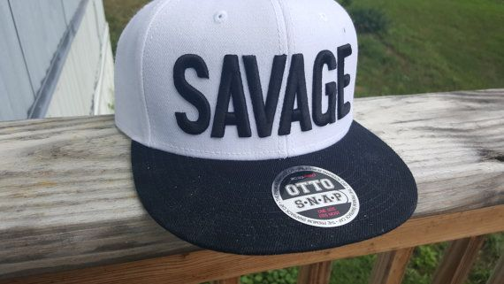 Savage Flat-bill Hat! Show the world you're savage af by wearing this hat.