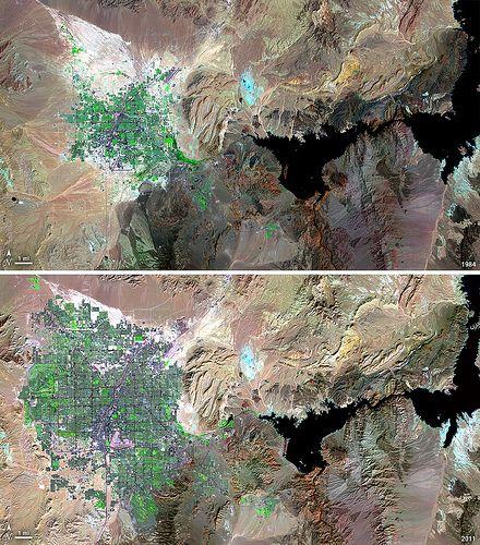 Landsat View: Las Vegas, Nevada