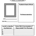 This graphic organizer is aligned to commom core.  It is a way for students to respond to characters in fictional or biographical texts.  Students ...