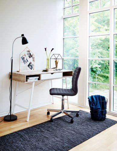 Skrivebord ABBETVED 1 skuffe eg/hvid