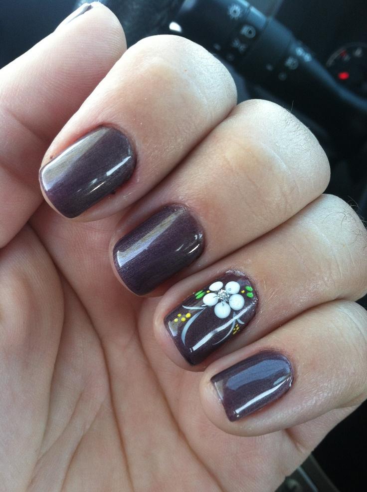 Gel manicure cute nail art   Summer   Pinterest