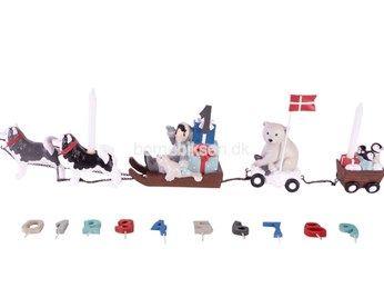 Friisenborg fødselsdags tog, hundeslæde
