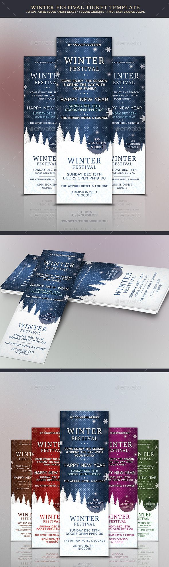 Concert Ticket Template Free Download Stunning 139 Best Invitation Design Images On Pinterest  Christmas Parties .