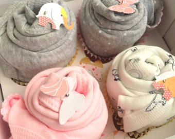 Deluxe Washcloth Cupcake Set..8 pcs. by OllieandPenny on Etsy