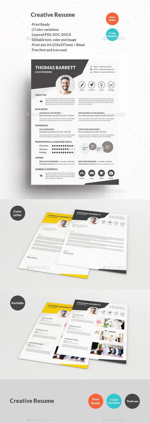 Editable infographic resume template
