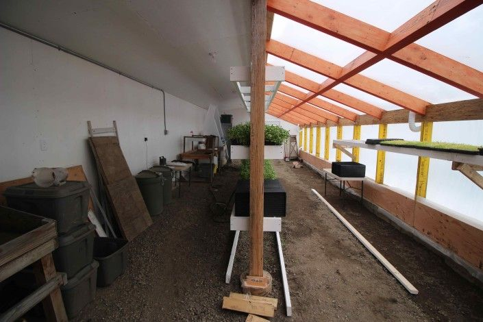 We built a passive solar greenhouse. Here's a time-lapse of most of the process.