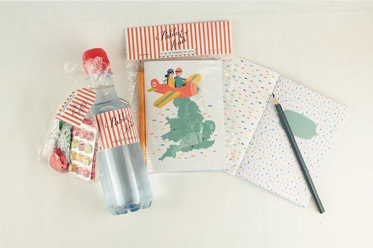 Kit anti resaca y cuaderno de diseño exclusivo para la pareja