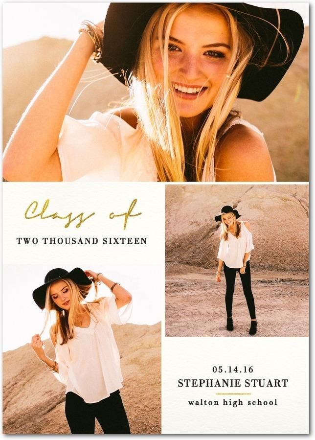 Put your best foot forward in life's next adventure with our Elegant Shimmer graduation announcement.
