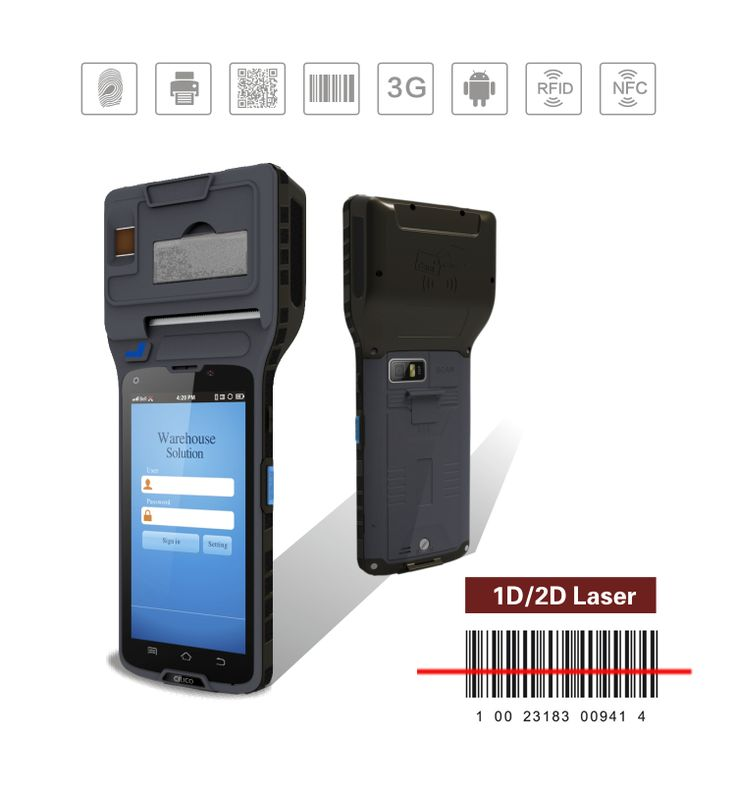 Cilico Cm550 Handheld Barcode Scanner Printer With 1d 2d