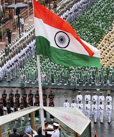 Hosting the Indian flag, India