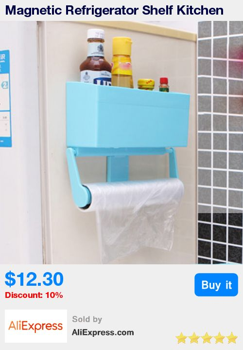 Magnetic Refrigerator Shelf Kitchen Storage Rack Paper Towel Bottle Rack Cling Film Holder for Refrigerator Bathroom Accessories * Pub Date: 17:34 Apr 14 2017