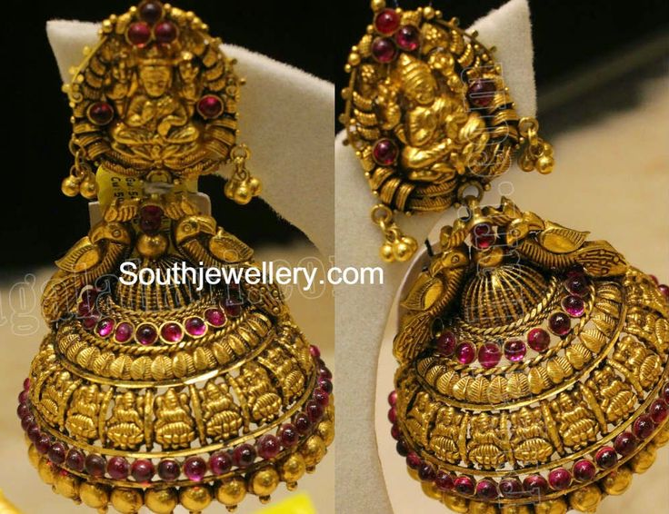 antique lakshmi jhumkas