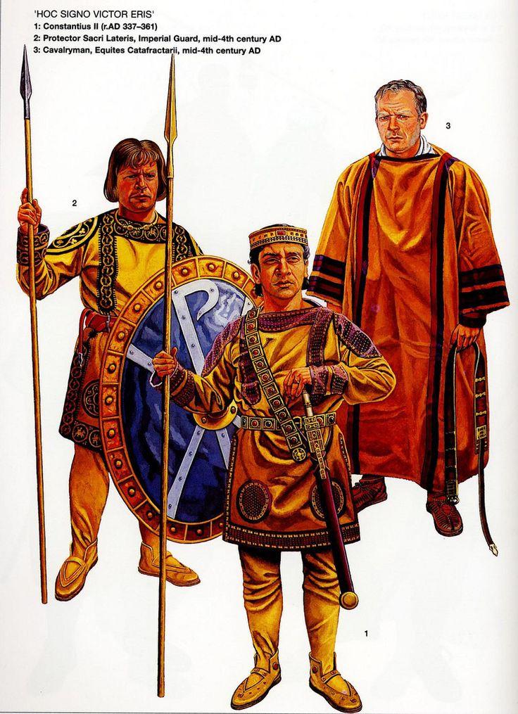 https://flic.kr/p/7NrBQE | roman emperor  | illustration of graham sumner showing the roman emperor Constantius II the son of Constantine I with his bodyguard