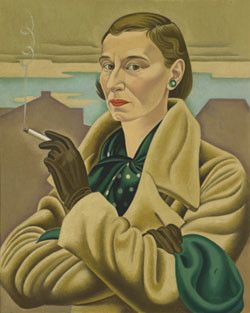 Rita Angus Self-portrait 1936–7. Oil paint on canvas. Collection of Dunedin Public Art Gallery, purchased 1980. Reproduced courtesy of the Rita Angus Estate
