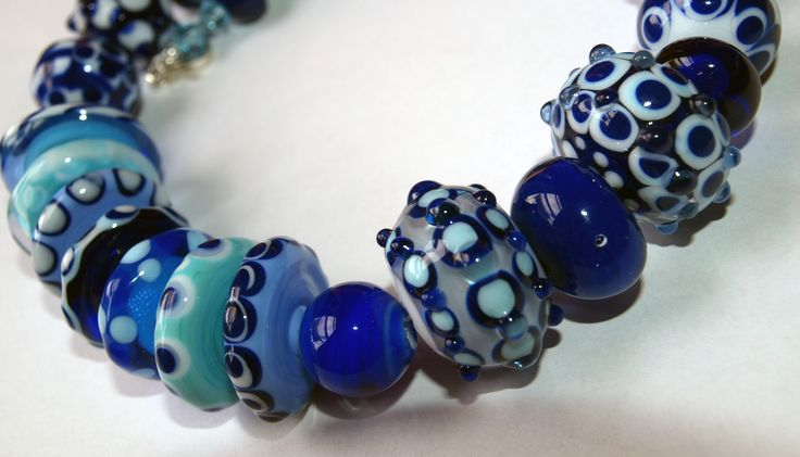 I love the sea Lampwork by M'AGRADA