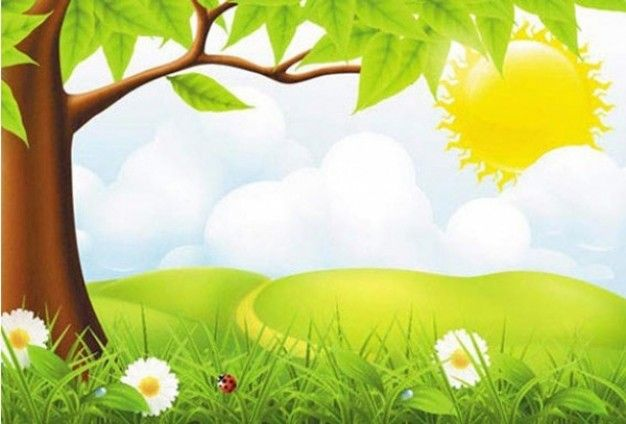 Green country nature scene background