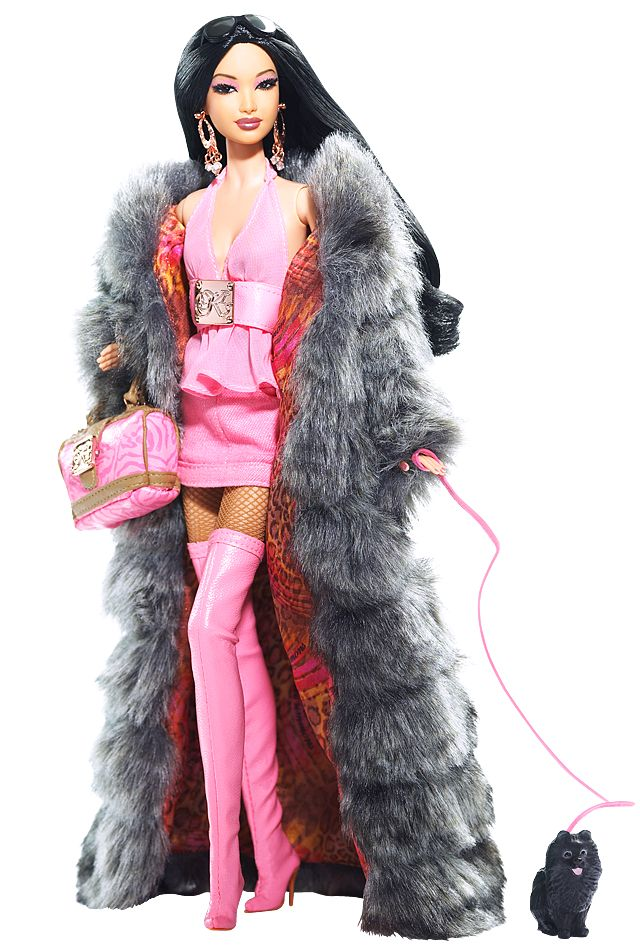 Full length faux fur coat - yes please!!  Kimora Lee Simmons Barbie® Doll | Barbie Collector