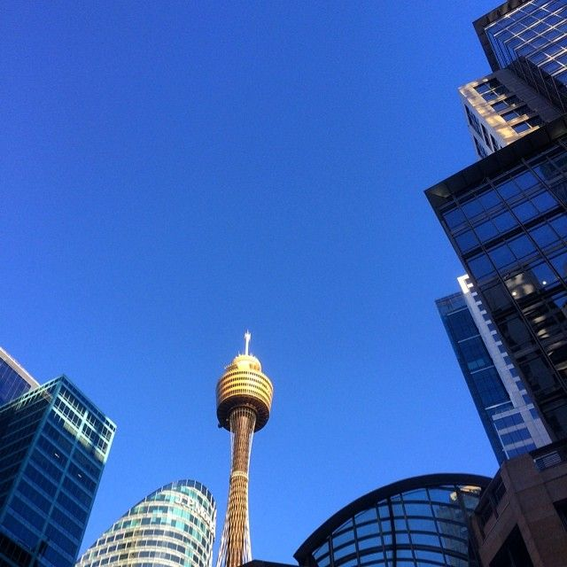 Perfect blue sky Winter day | Sydney CBD