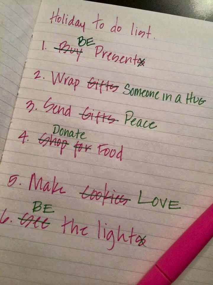 Make sure your Holiday To-Do List puts the important things first! Many blessings, Cherokee Billie
