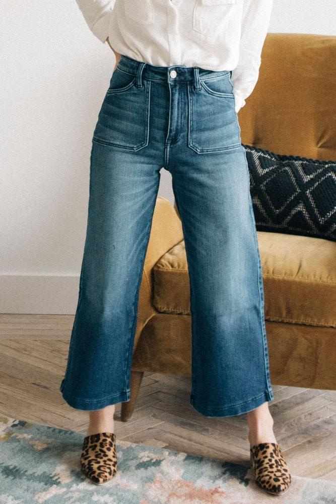 Kancan Oh So High Rise Wide Leg Denim Best Jeans For Women Best Jeans Wide Leg Denim