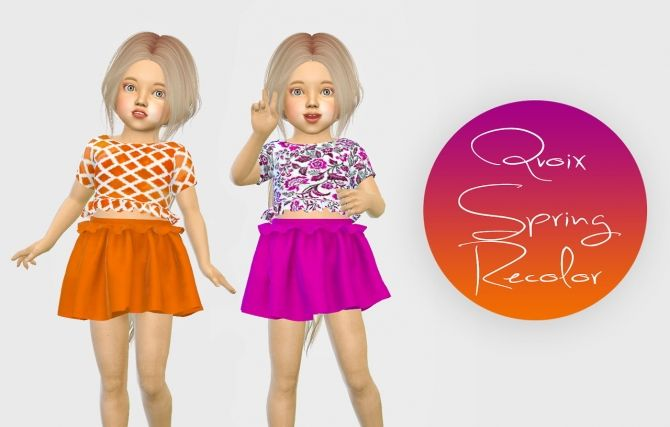 Qvoix Spring Outfit Recolor at Simiracle • Sims 4 Updates
