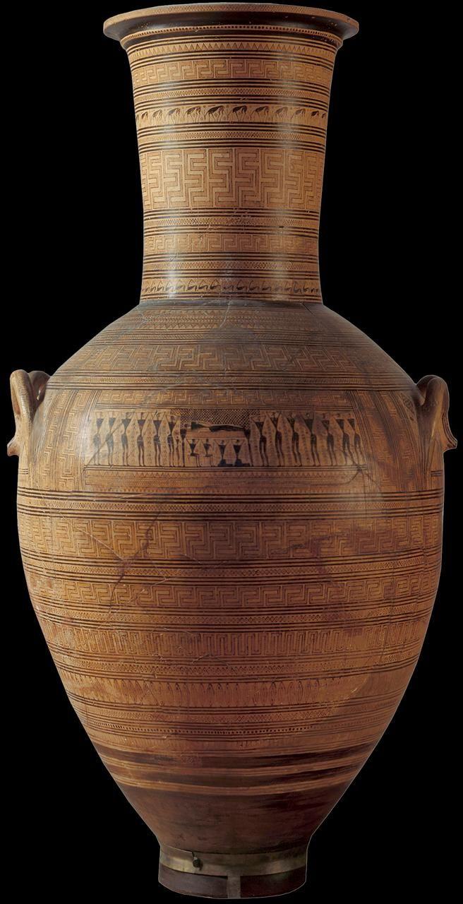 Dipylon vaas - Attische geometrische amfoor - 8ste eeuw v.c. - hoogte 150 cm