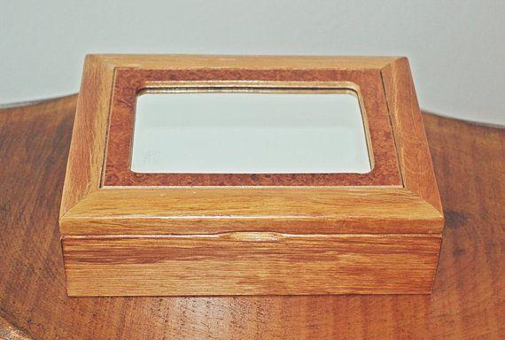 Vintage Wood Jewelry Box Jewelry / Photo Box by Collectitorium