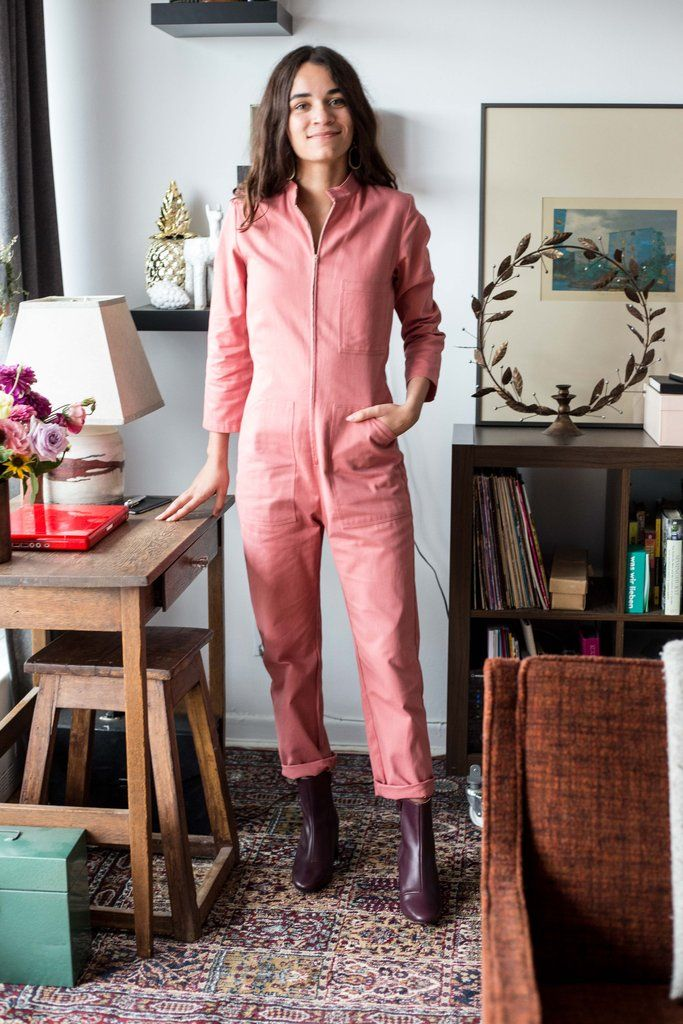 aff6bd61e11 Dagg and Stacey Clothing Toronto Finch Boiler Suit Pink Cotton Twill Zip  Front Flight suit Long Sleeves Victoire Boutique Canadian Fashion