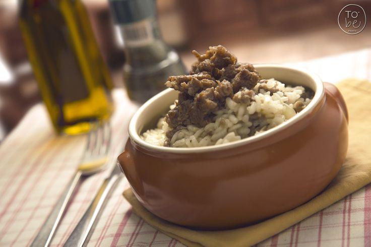 risotto funghi e salsiccia - risotto mushrooms & sausage  facebook.com/to.bephotography