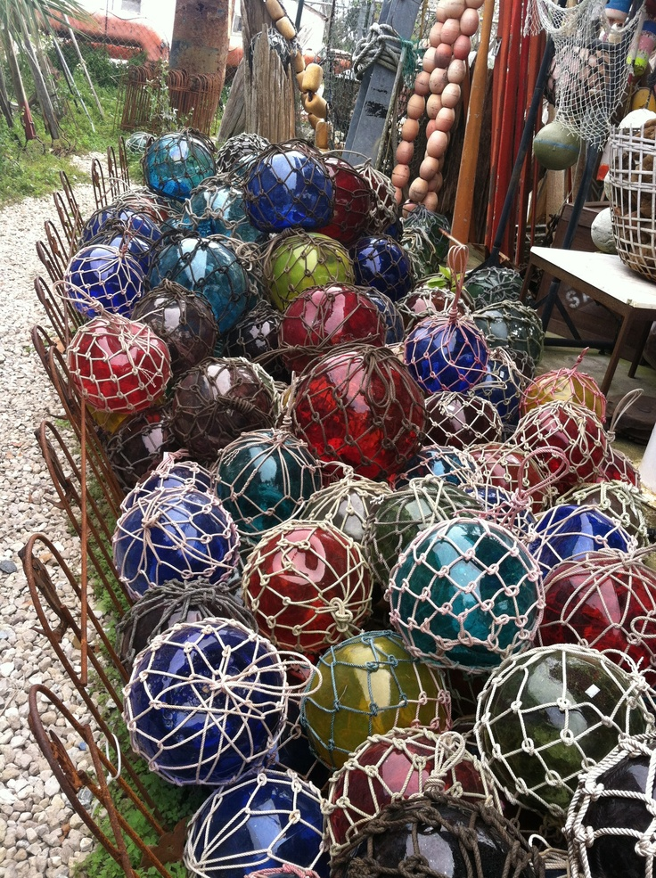 Glass Buoys at the Tin Shed in Apalachicola/St. George Island, FL
