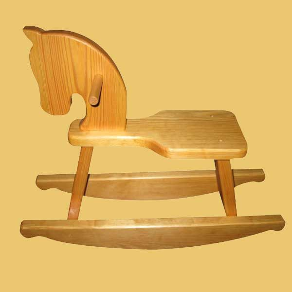 New York States of Mind Marketplace Child's Rocking Horse. Handmade in the Adirondacks by Watson Woodworking.