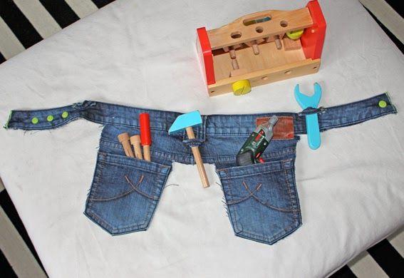 Werkzeuggürtel aus alter Jeans