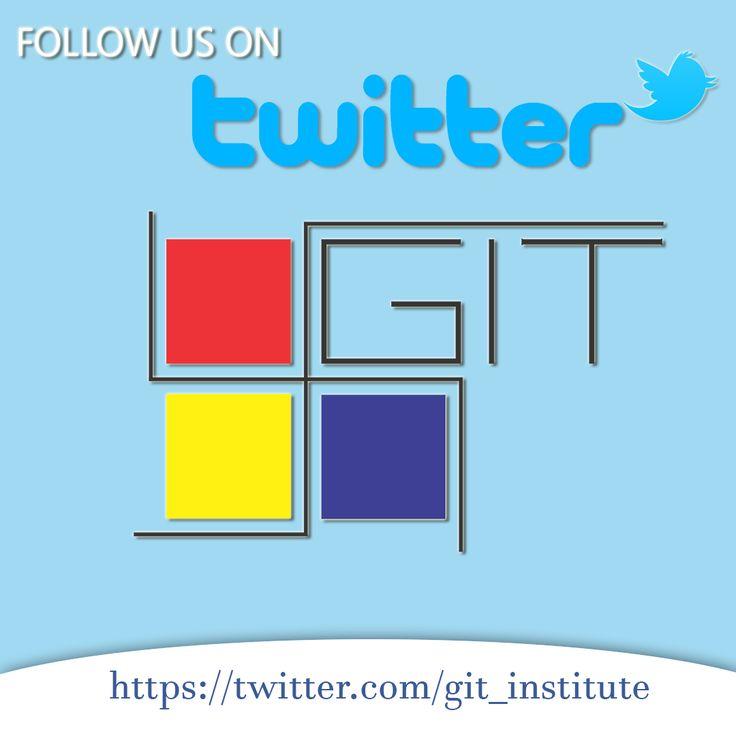 Follow us on Twitter! https://twitter.com/git_institute #gitontwitter #gittwitter