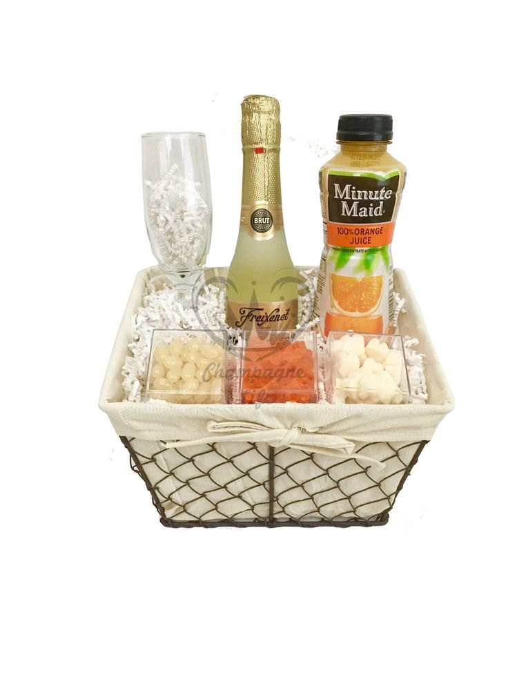 Champagne Mimosa Gift Basket Champagne gift baskets