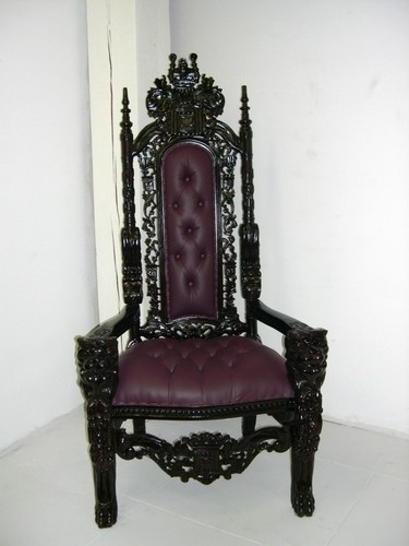gothic throne king chair mahogany carved $549