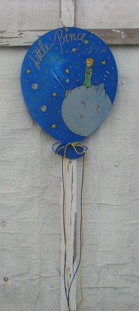 Little Prince ( Planet ) - Wooden Balloon Mικρός Πρίγκιπας ( Πλανήτης ) - Ξύλινο Μπαλόνι