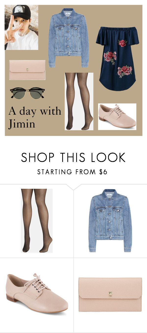 """A day with Jimin"" by frencyl on Polyvore featuring moda, Avenue, Closed, Clarks, Valextra e Ray-Ban"