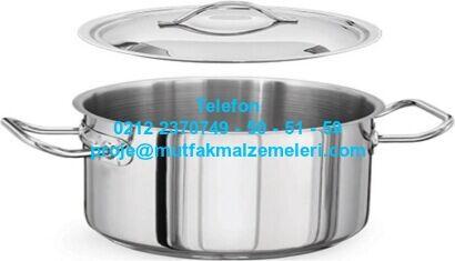 Yemek Pişirme Tencereleri : 70-80 Kişilik Çorba Pişirme Tenceresi Sanayi tipi Paslanmaz Krom Çelik ve 3 tabanlı Derin Silindirik Yemek Pişirme Haşlama Kaynatma Tenceresi ADT22:22,4 litrelik kapasitesiyle orta boy haşlama tenceresi olan bu orta boy kazanda değişik haşlama kaynatma çorba pişirme işlerinizi yapabilir rahatlıkla kullanabilirsiniz.Yemek tenceresi Çorba tenceresi ihtiyaçlarınızda arayınız 0212 2370749