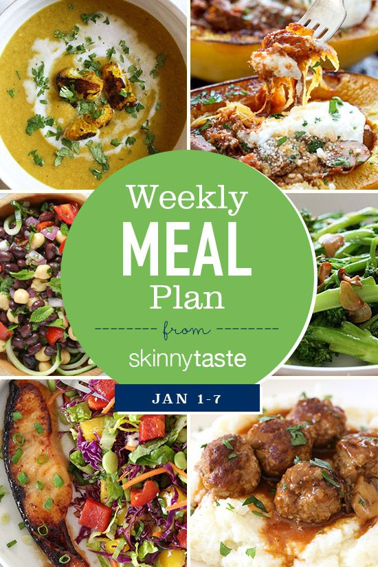 Skinnytaste Meal Plan January 1 7